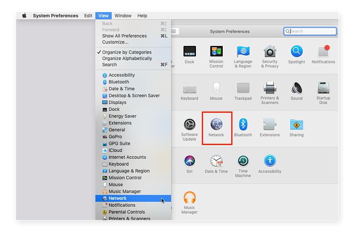Mac network settings