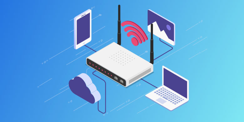 Router IP address background