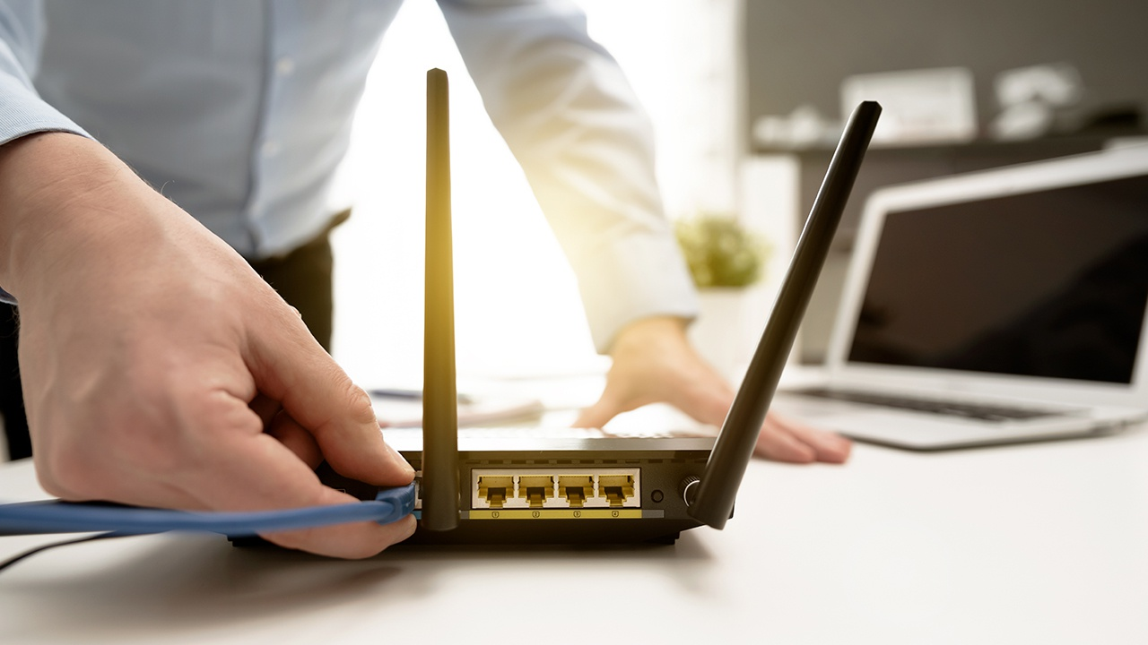 router unplugged