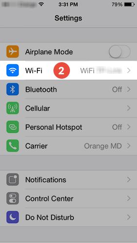 iPhone proxy setup
